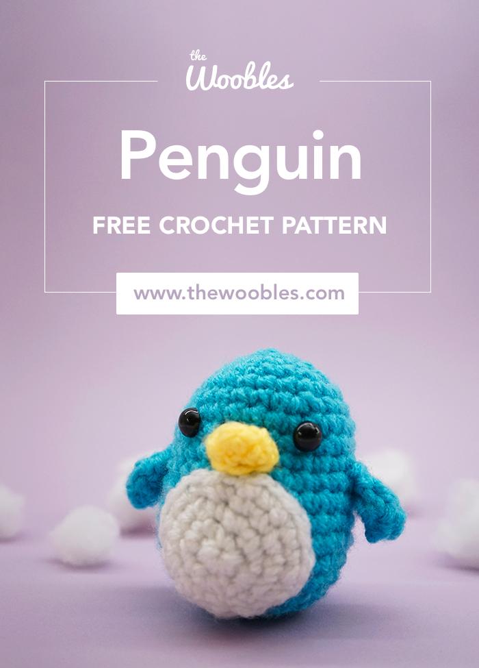 Free penguin amigurumi crochet stuffed toy pattern for Pinterest
