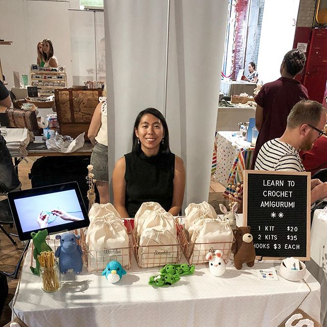 Here's a shot from the weekend with my very first craft fair booth at the #fadmini market. Some things I learned this weekend: 1. Kids are drawn to videos like moths to a light 💡 2. Kids have the urge to squish toys. Like a lot.  3. Adults are more subtle about their desire to squish toys, and some will even take measures by going behind your back to avoid notice 🕵️‍♀️ . Special thanks to everyone who came out to support me this weekend! I'm talking to you, @hheyimheidi @blueliteprevails @iamtravelsize @oacgnol @nasalwig @leepxy @syeungjeezy 😁 . #thewoobles #crochet #amigurumi #etsycrochet #ravelry #crocheting #kawaii #kawaiicrochet #instacrochet amigurumilove #crochetersofinstagram #craftastherapy #crochettoy #crochettoys #handmadetoy #amigurumiaddict #crochetpattern #amigurumipattern #amigurumianimal #crochetlove #amigurumitoy #haken #häkeln #crochê #hekle #hækle #virka #virkkaus #etsyseller #ganchillo