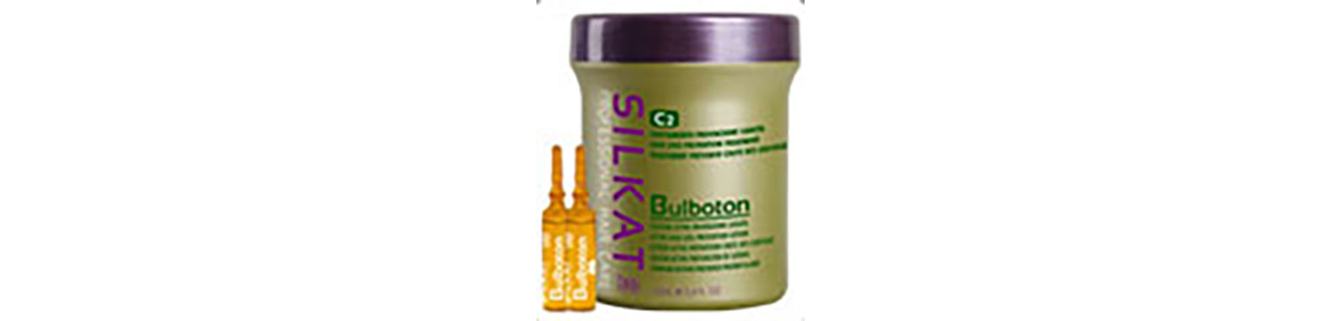 Silkat Bulboton® is a two-step treatment that provides significant nutrition to the hair bulb – with a valuable adjuvant action in preventing hair loss.