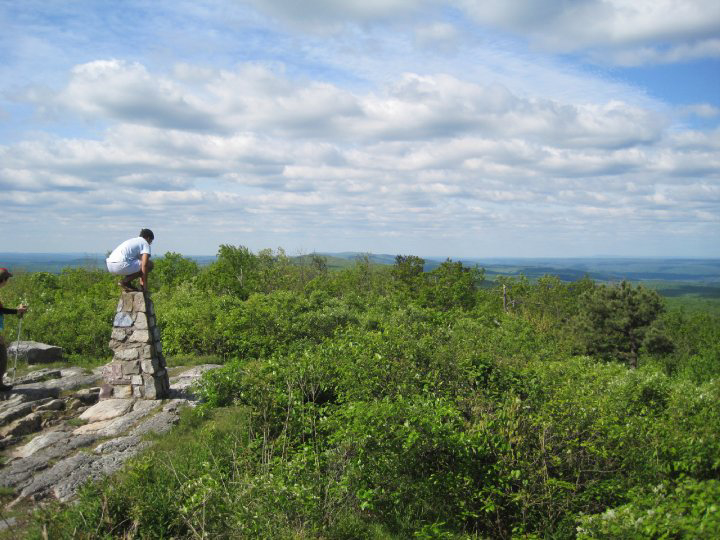 Peering out over NJ from the Appalachian Trail