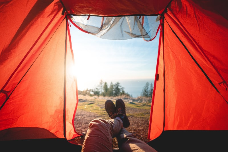 Ultralight tents and sleeping bags offer ultimate freedom when it comes to finding a place to sleep on the road.