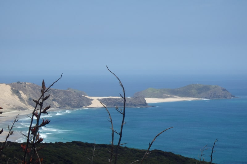The view from Cape Reinga looking to the west.
