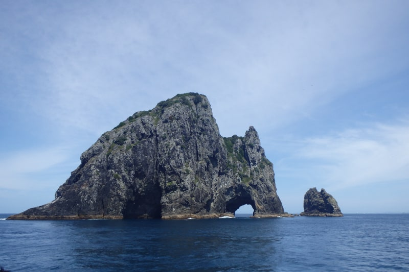 Rock formations off the coast of Bay of Islands.