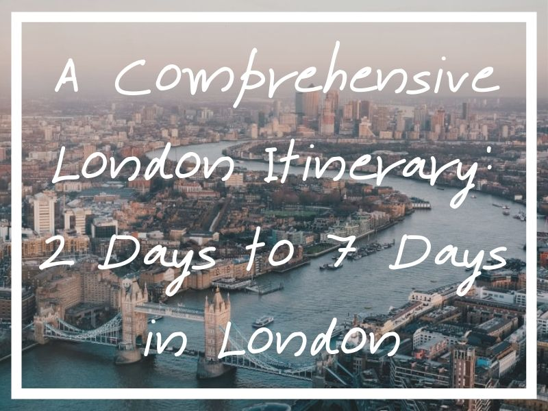 I hope you find this long list of London itinerary ideas useful for your trip to the UK capital!