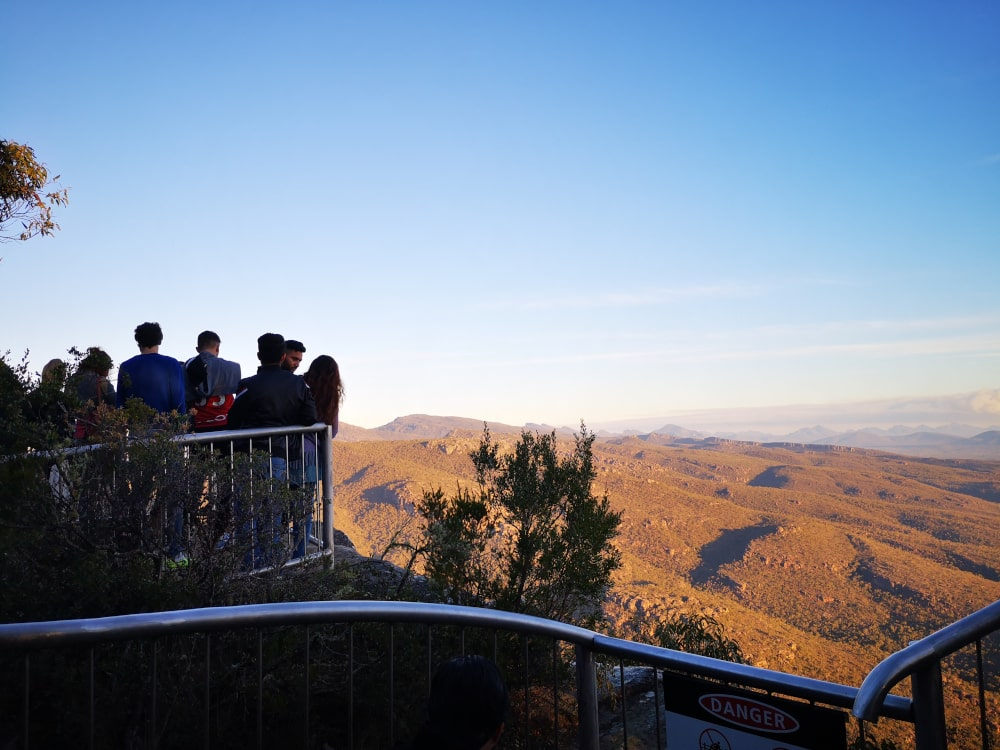 The view from the Balconies Grampians National Park! You can see how busy it gets!