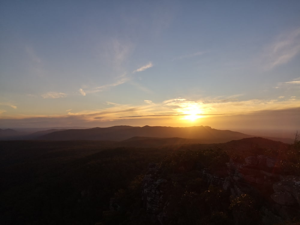 Sunset over the Grampians! This particular Grampians lookout is just away from Reeds car park. For a better view of the setting sun, I recommend coming here instead of being at the Balconies lookout.