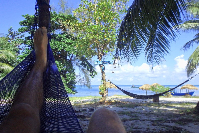 Lazing in a hammock on a tropical beach. It's definitely my happy place. One for your bucket list too?