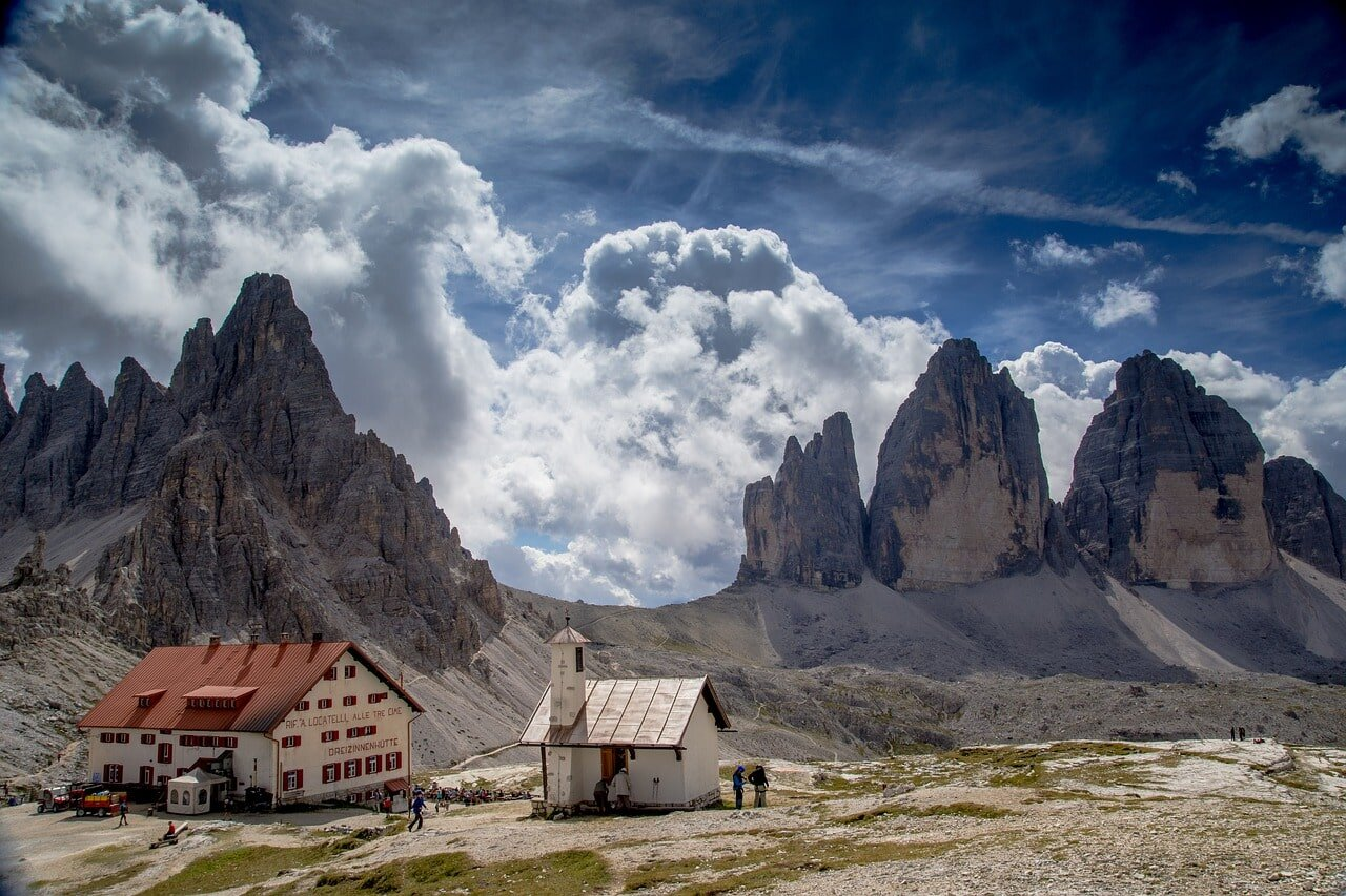 Some of the best backpacking hikes you can find are in the Dolomites, Italy.