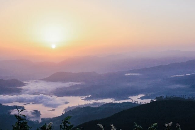 I climbed Adam's Peak on a rainy day back in 2013. The steps were memorable, but I had no view at all! I'd happily climb back up those stairs for a sunrise view like this!