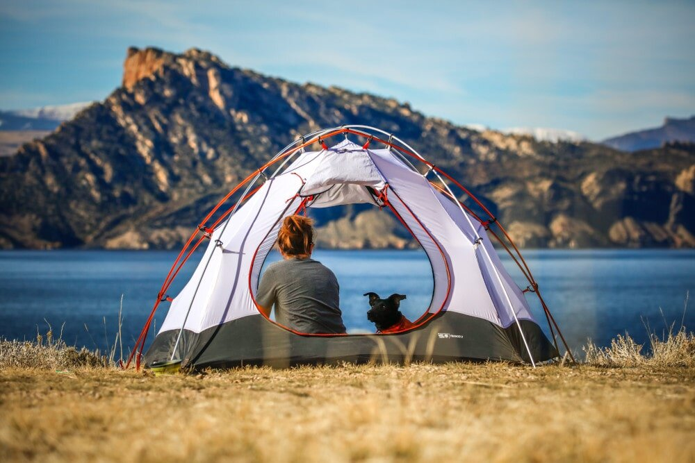 Finding the best backpacking sleeping bag means you can sleep in beautiful spots like this! Just make sure you get the right temperature rating!