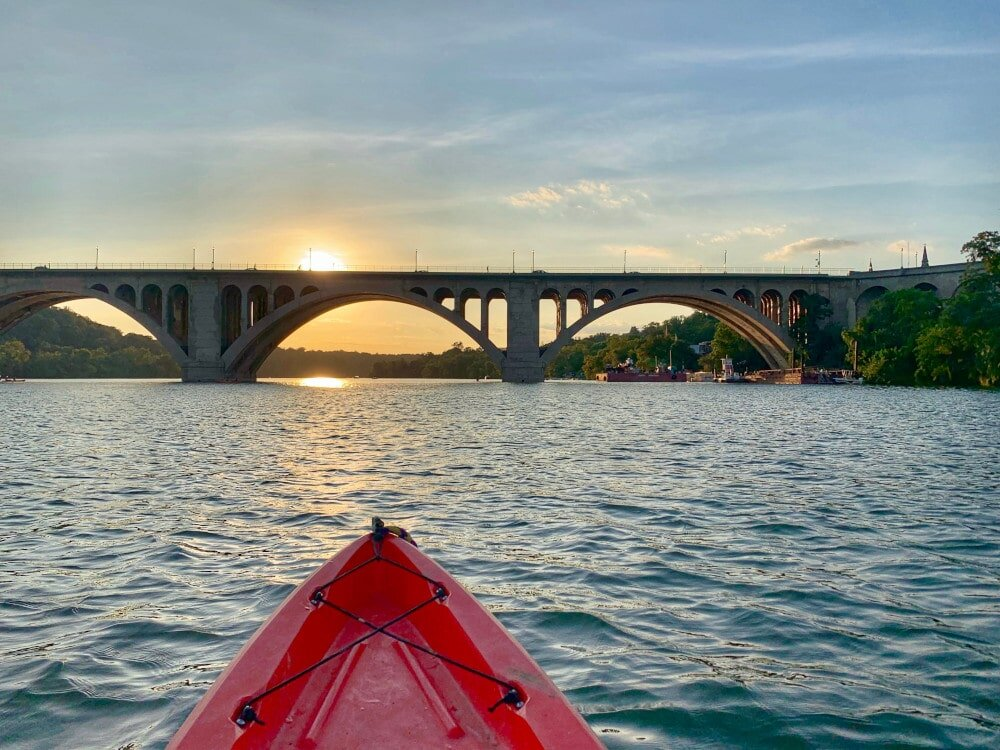There's nothing better than seeing the Potomac River by kayak in Washington.