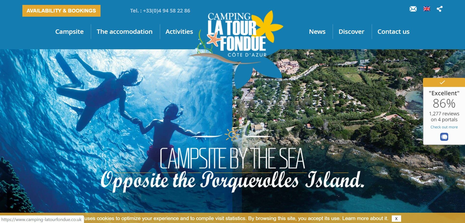 La Tour Fondue is a top rated south France camping site next to the sea.