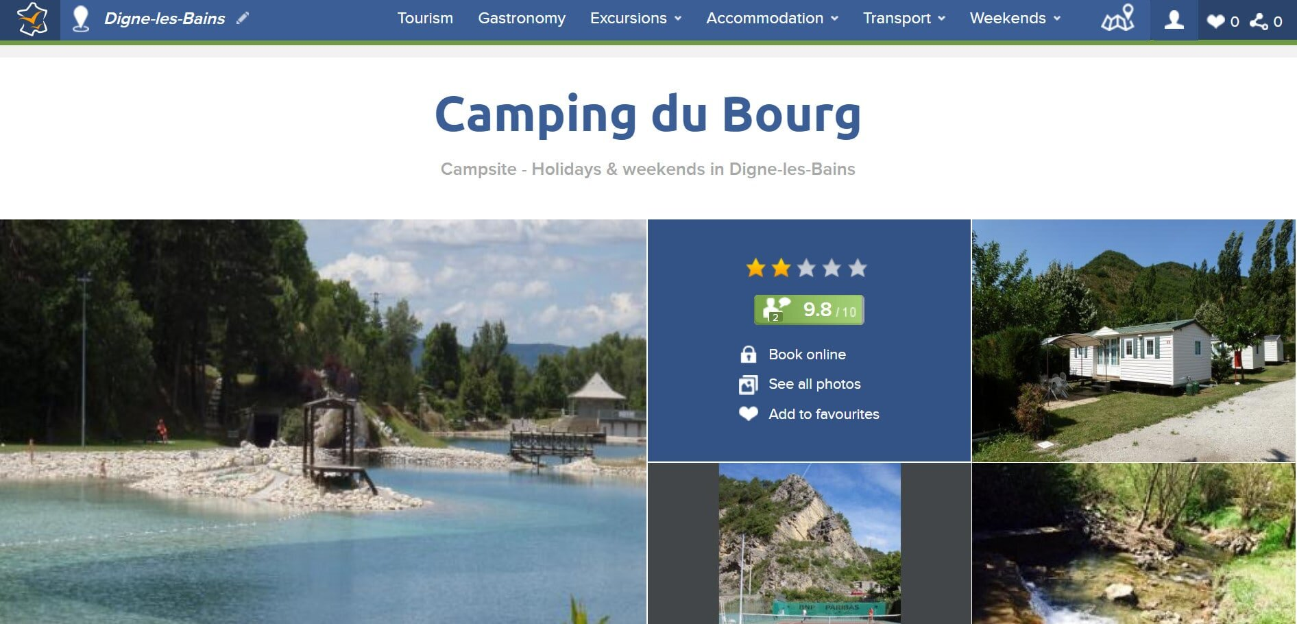 Anybody looking for budget camping south of France should check out Camping Du Bourg!