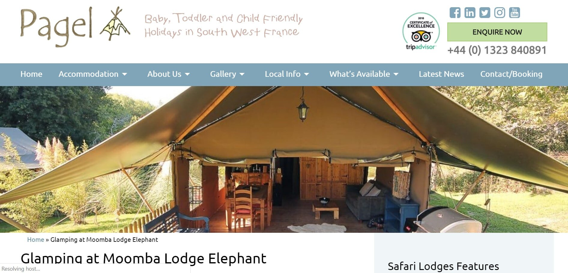 Here's another family-friendly south France site, ideal for anyone looking for glamping France opportunities.
