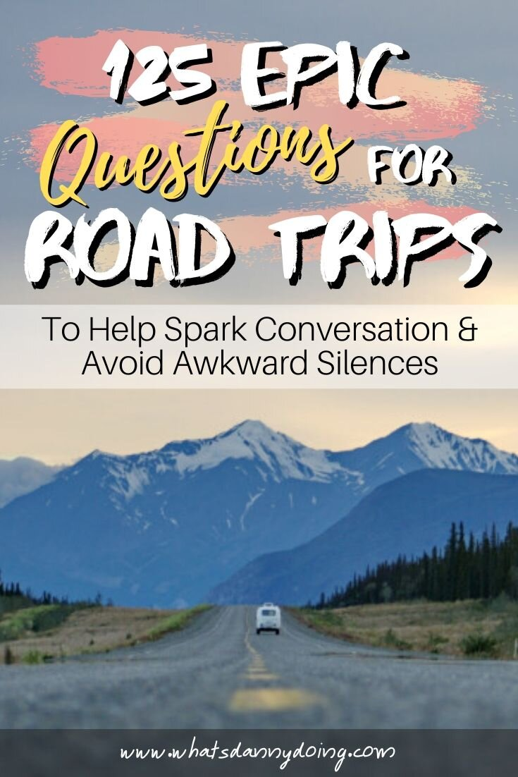 Share these questions for road trips by giving this post a pin!