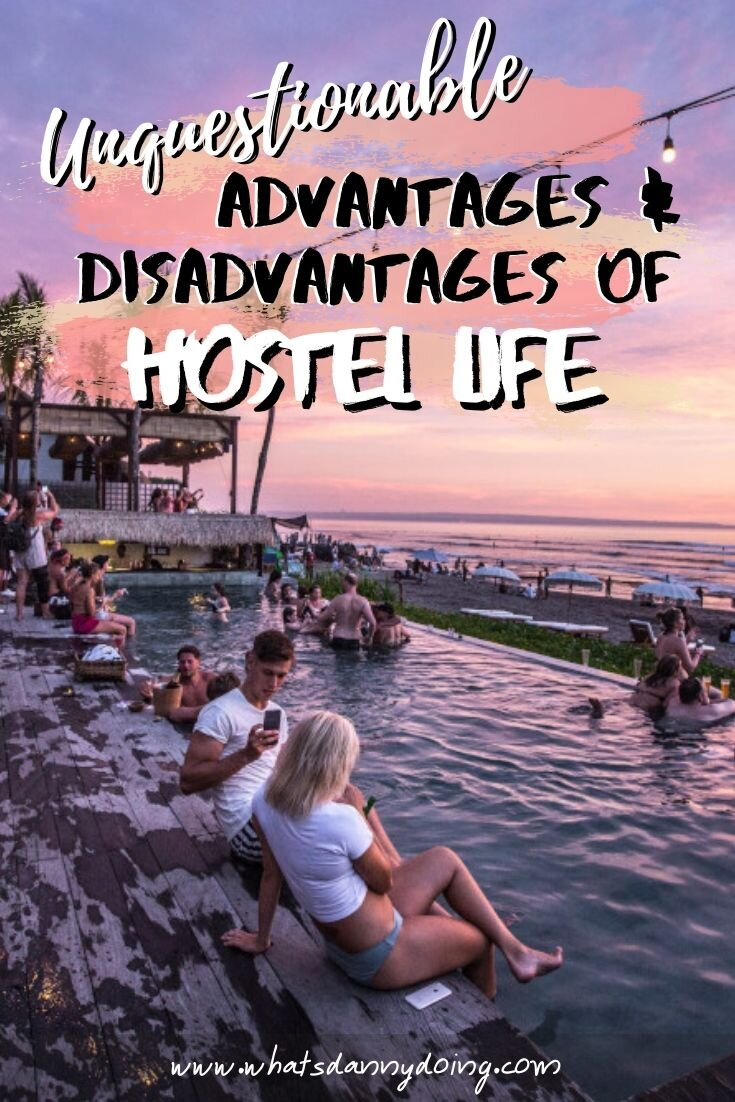 Give this advantages and disadvantages of hostels post a pin!