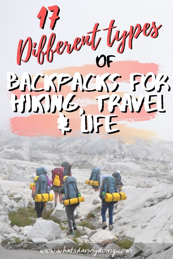 Share this post about the different backpack types on Pinterest!