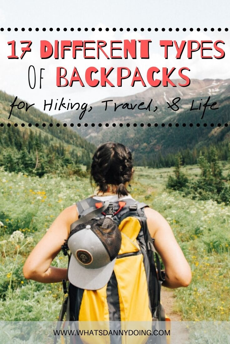 Pin this post explaining the different types of backpacks!