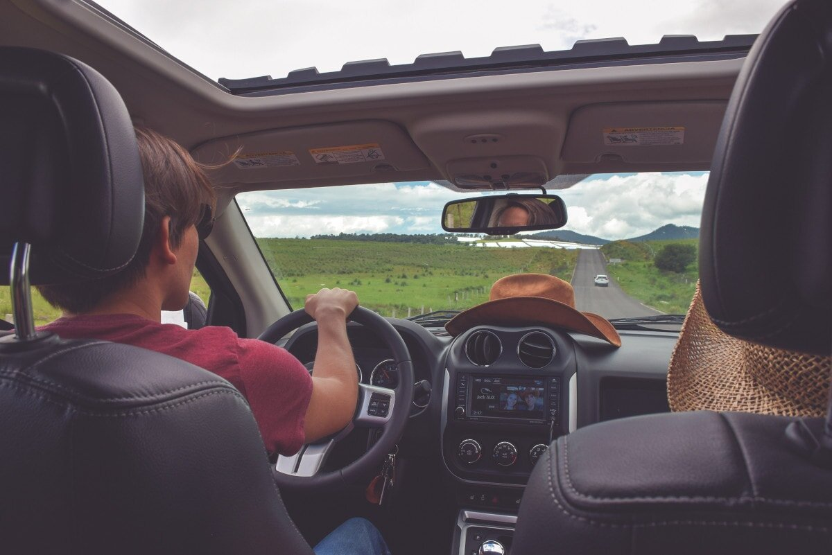On a road trip with friends? Get the music playing!
