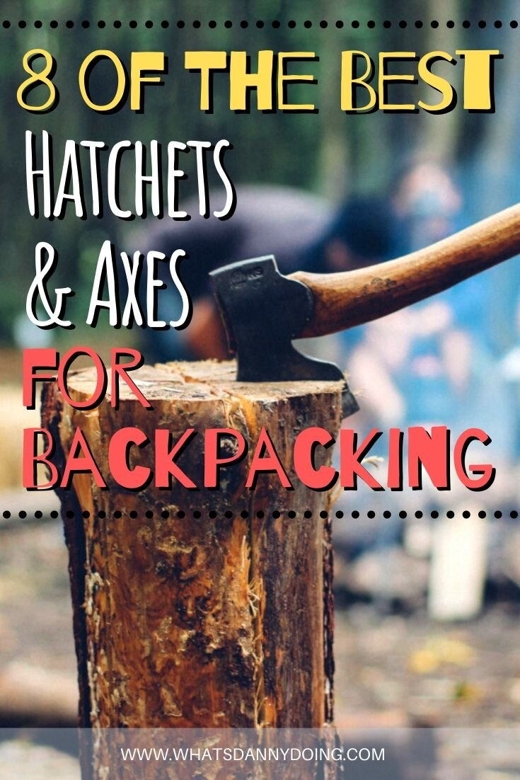 Pin this post about the best hatchet for survival, backpacking, hiking, and camping!