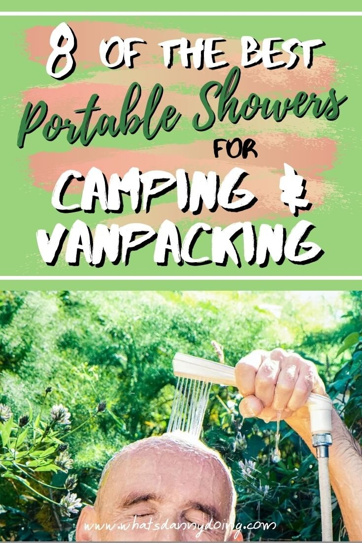 Pin this post about the best bortable showers for camping!