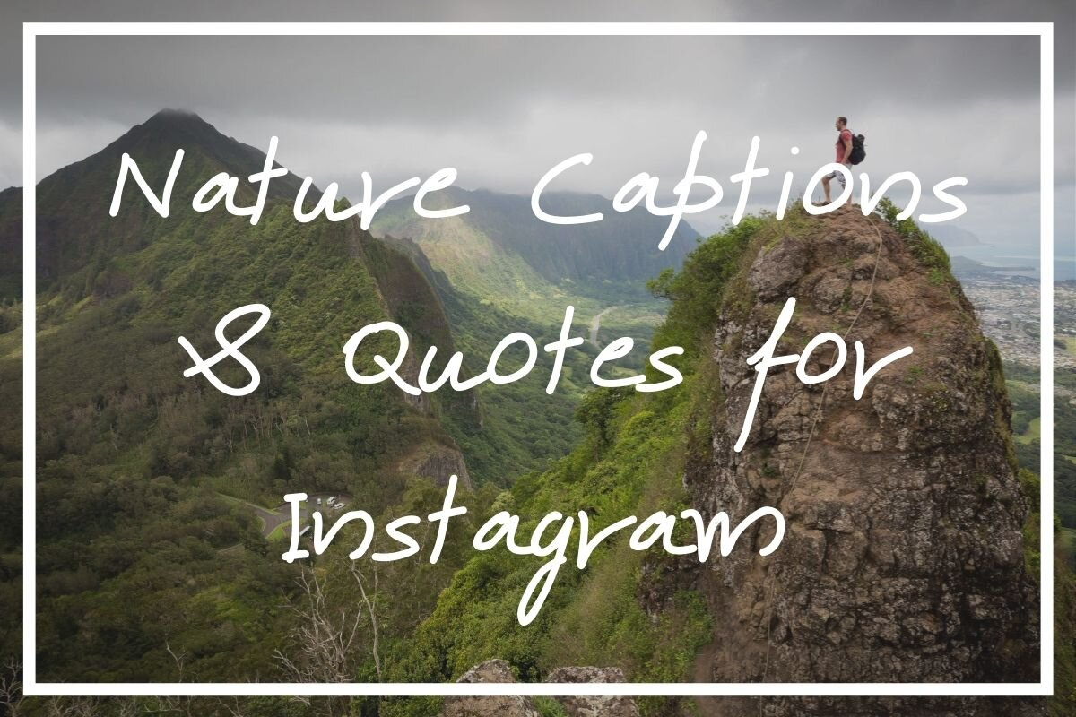 I hope this post full of 215 nature captions for Instagram comes in handy!
