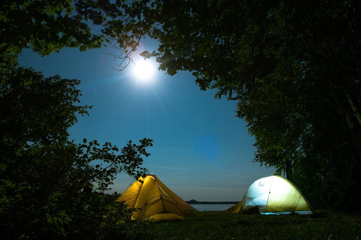 Captions for nature posts come in handy when you're camping in beautiful places like this.