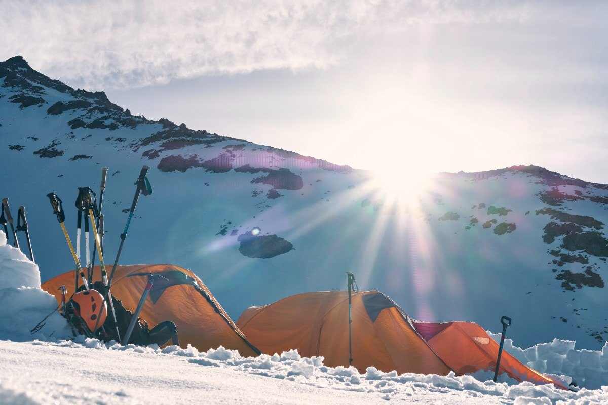 When you're camping in the snow, you need a budget sleeping bag with a good enough temperature rating for the job!