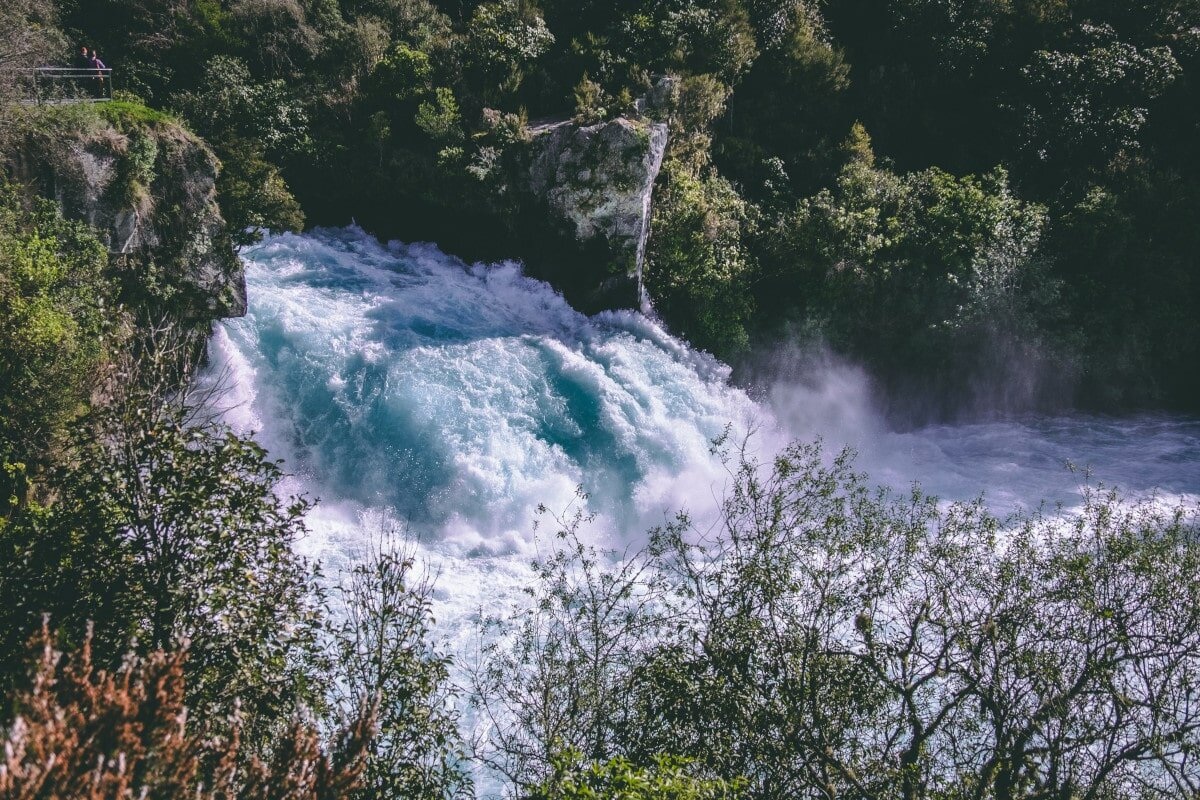 This is Huka Falls in New Zealand. These powerful fall quotes would just about do this monstrous torrent of water justice!