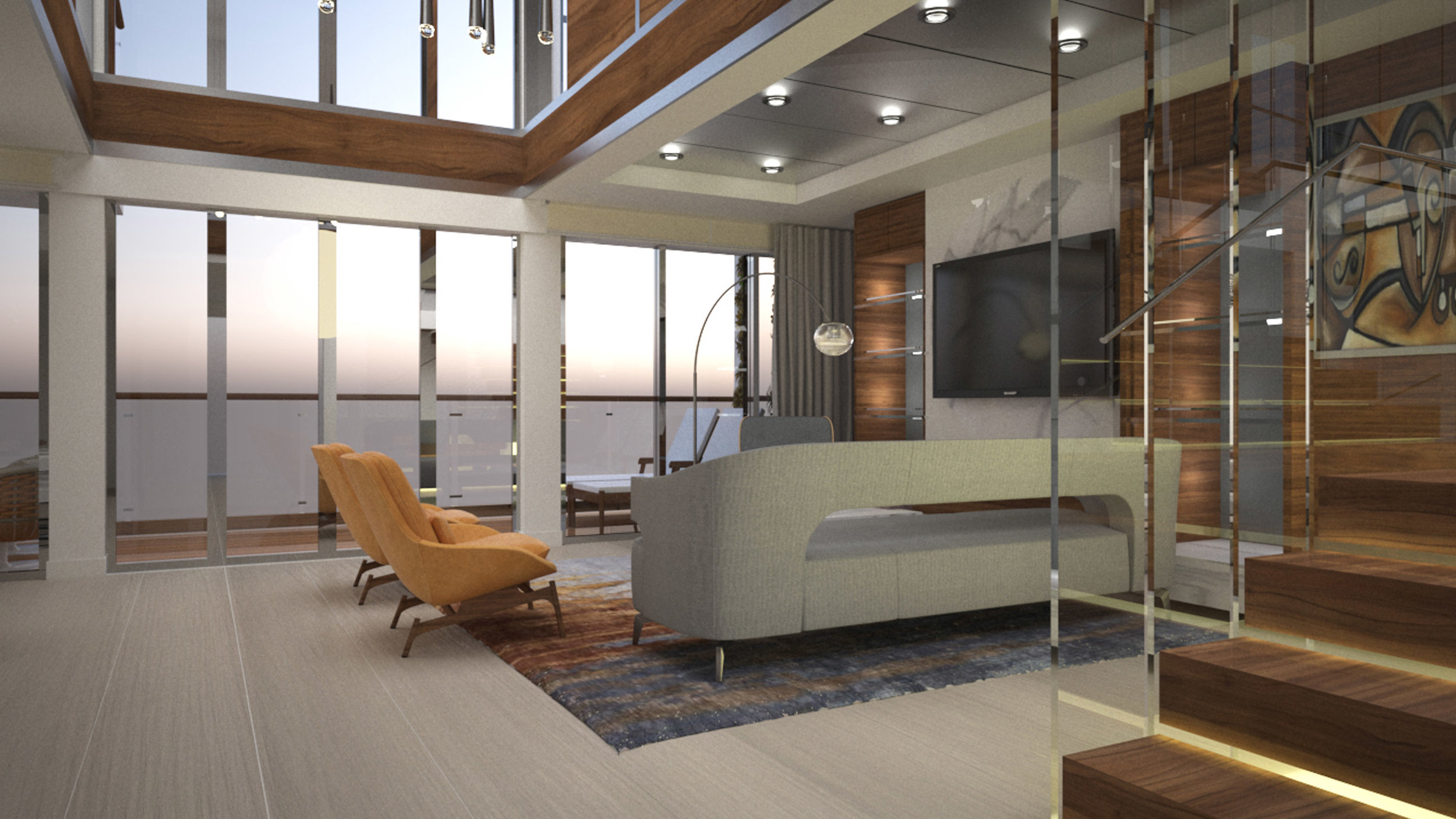 TWO BEDROOM SPLIT-LEVEL RESIDENCES - YOUR HOME AT SEA, SIZE EXTRA LARGE1,200 SQ FT / 111.5 SQMPriced from U.S. $3,350,000 (£2,557,000)