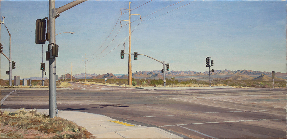 "MOSON ROAD oil on linen 20 x 36"" 2015"