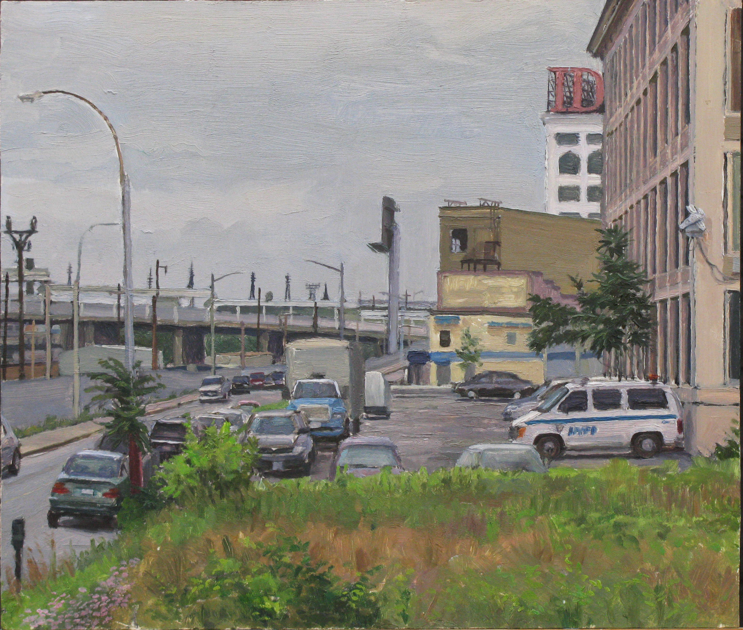 "M-20: SKILLMAN AVE., QUEENS oil on panel 14 x 16"" 2009"