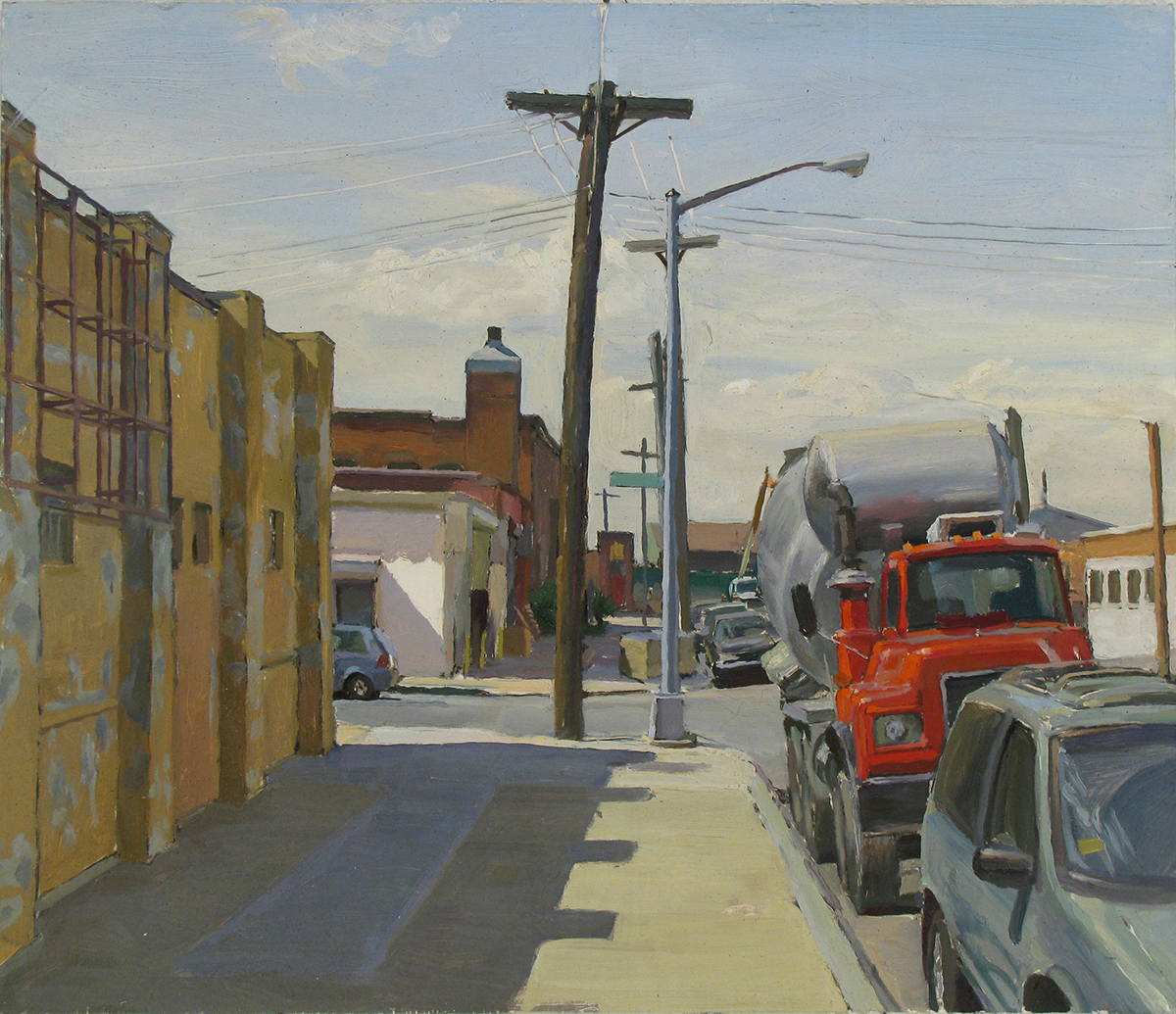 "Y-50: GARDENER AVE. off FLUSHING AVE., BROOKLYN oil on panel 14 x 16"" 2010"