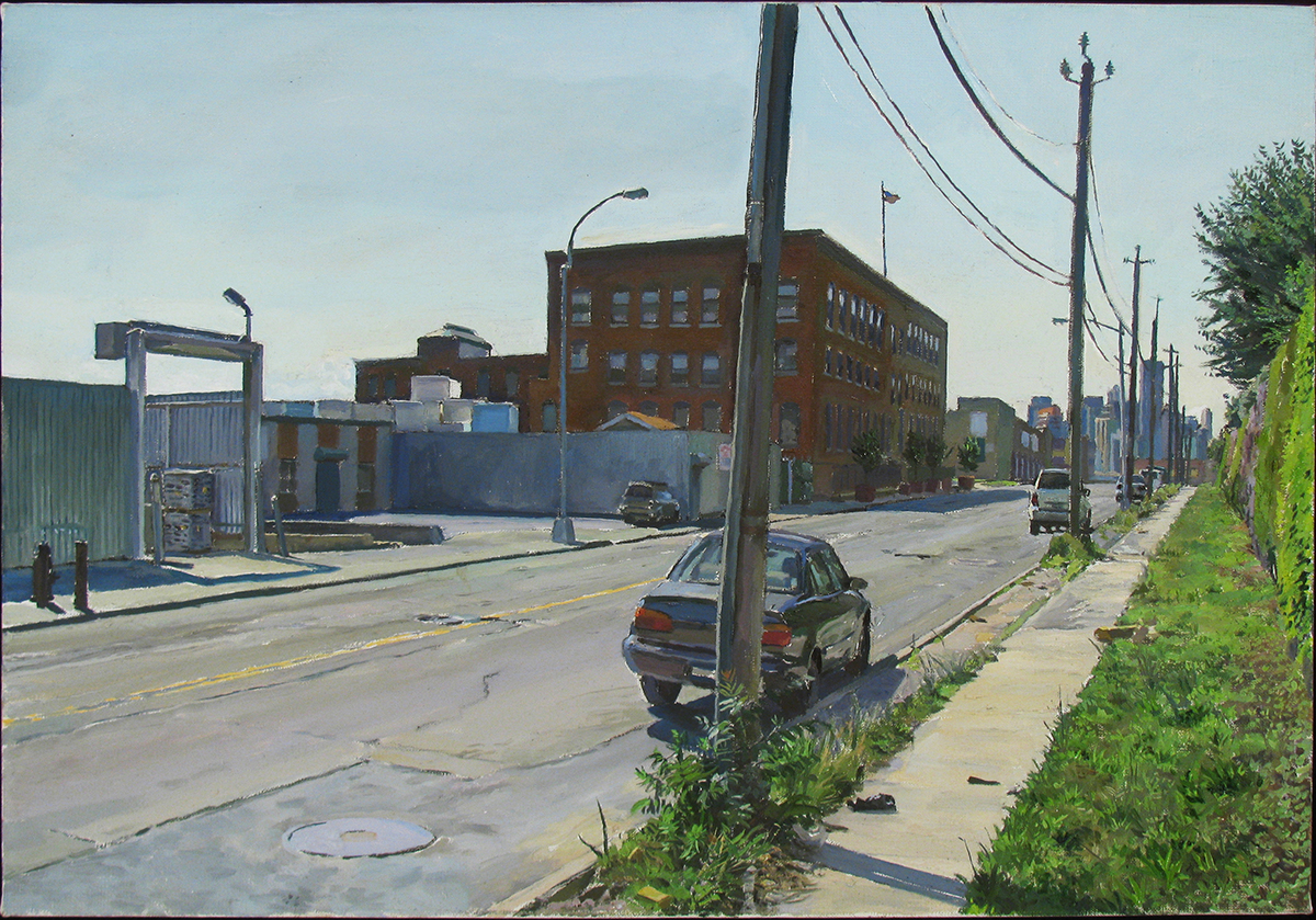"S-31: REVIEW AVE., QUEENS oil on linen 16 x 23"" 2011"