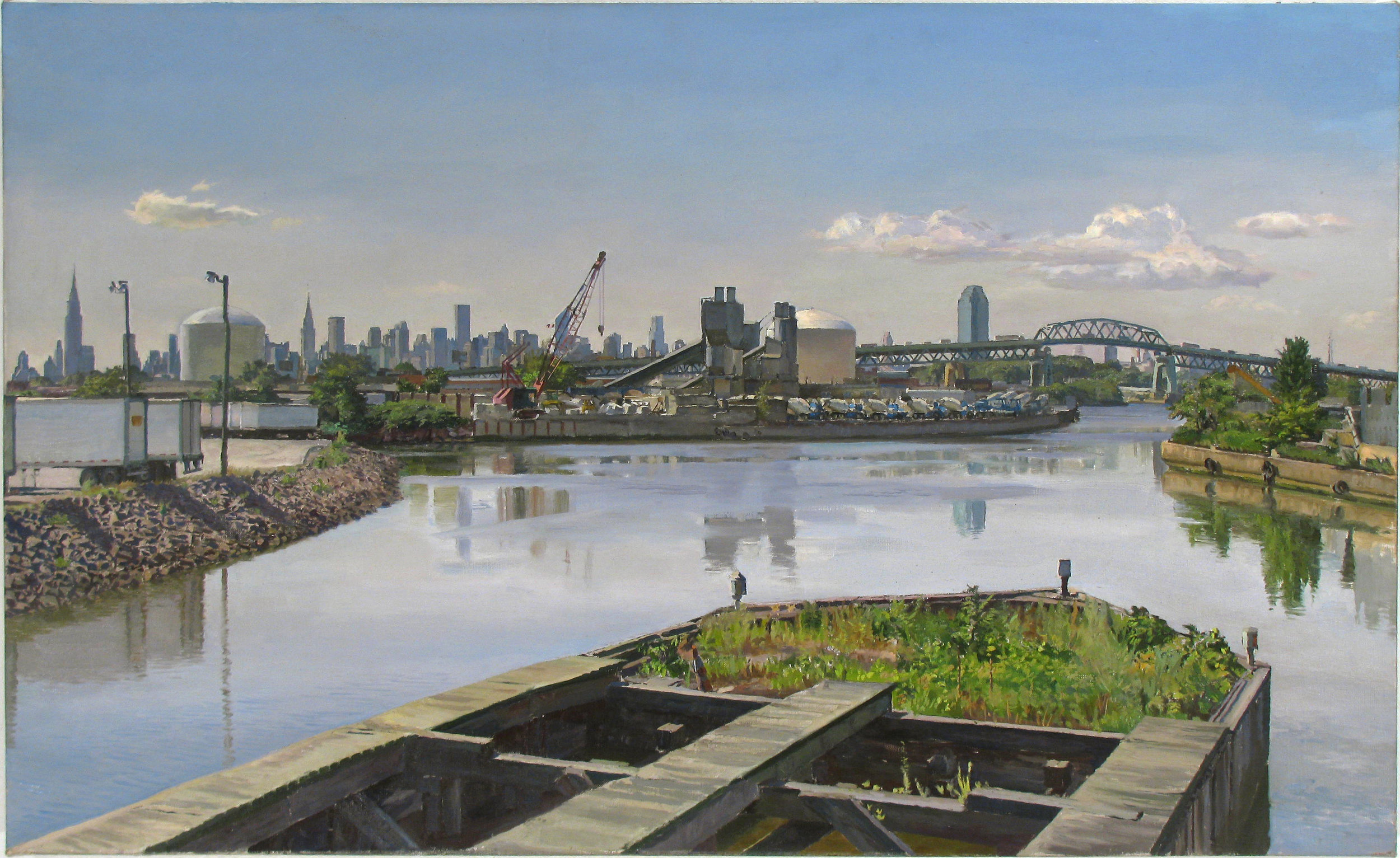 "NEW TOWN oil on linen 22 x 36"" 2011 (sold)"