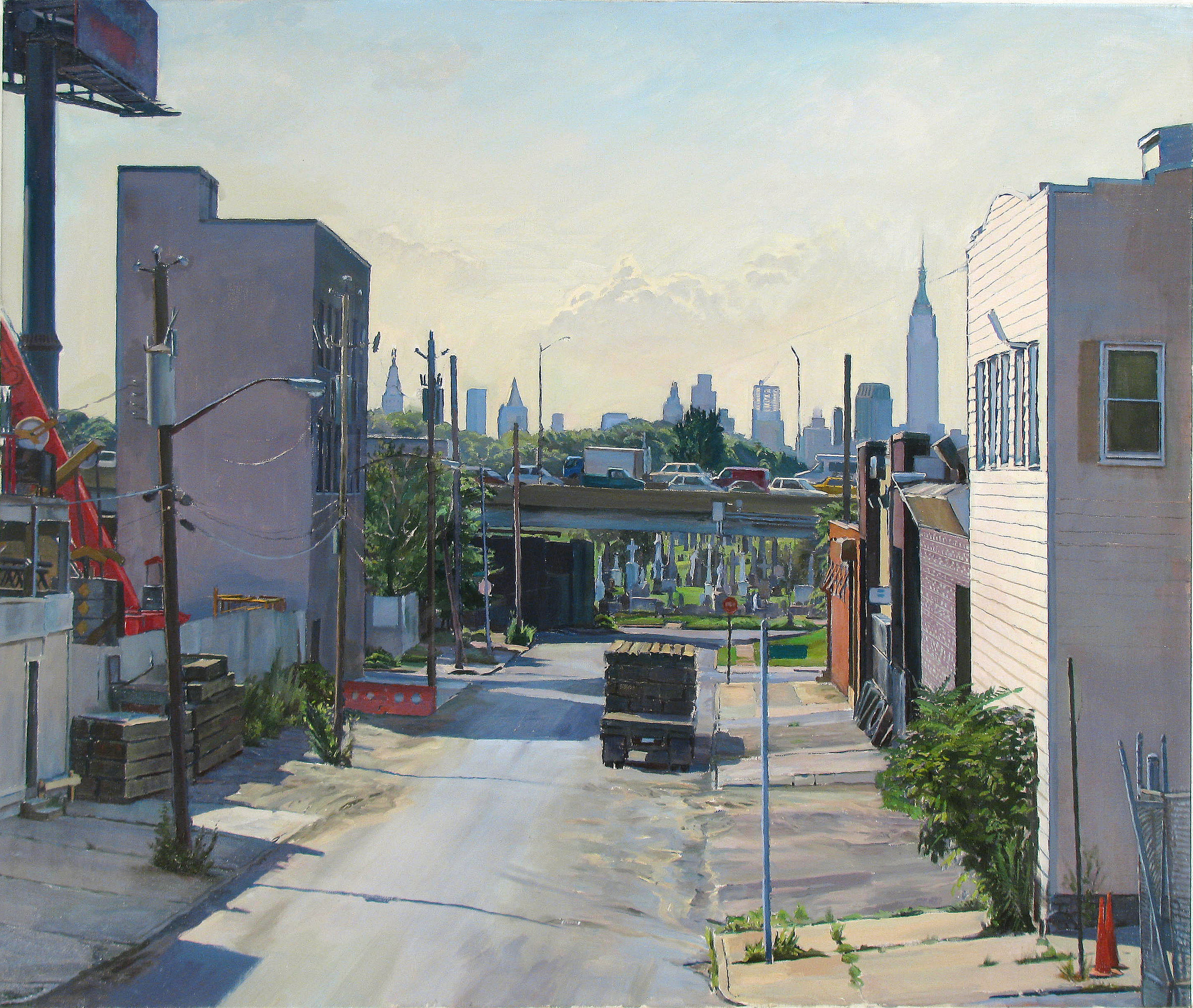 "END OF ROAD oil on linen 28 x 33"" 2010"
