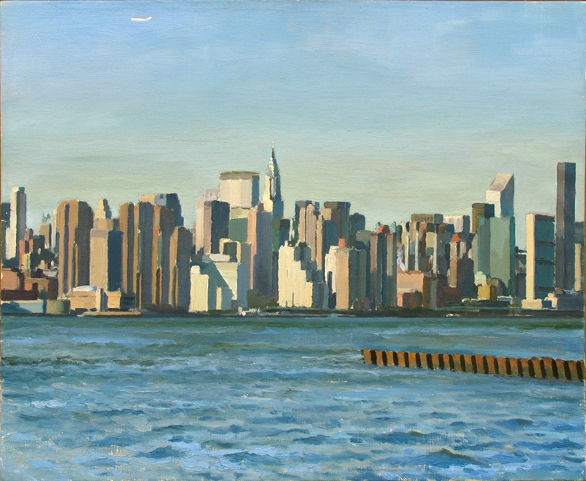 "NEW CITY oil on linen 18 x 22"" 2002"