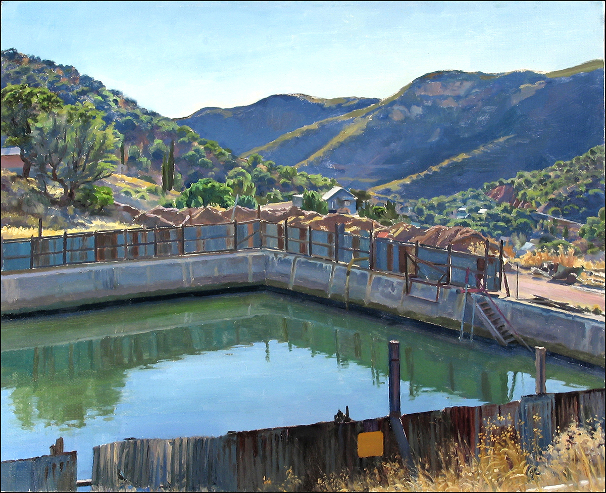 "ARIZONA RESERVOIR oil on linen 18 x 22"" 2006 (sold)"