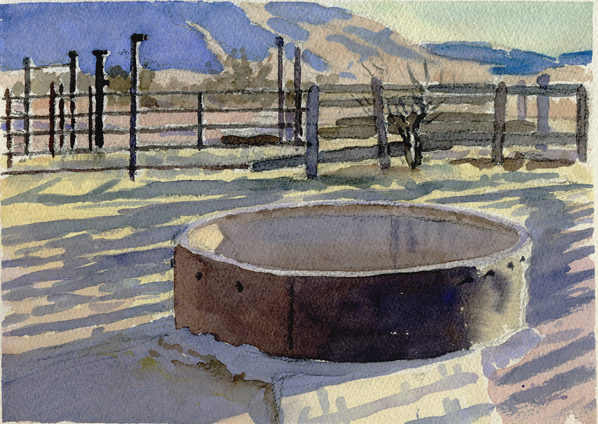 "TROUGH watercolor 9 x 12"" 2007"