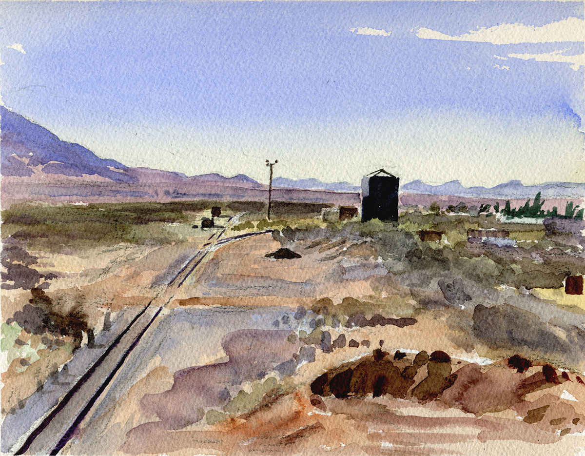"NEAR NACO watercolor 9 x 12"" 2008"
