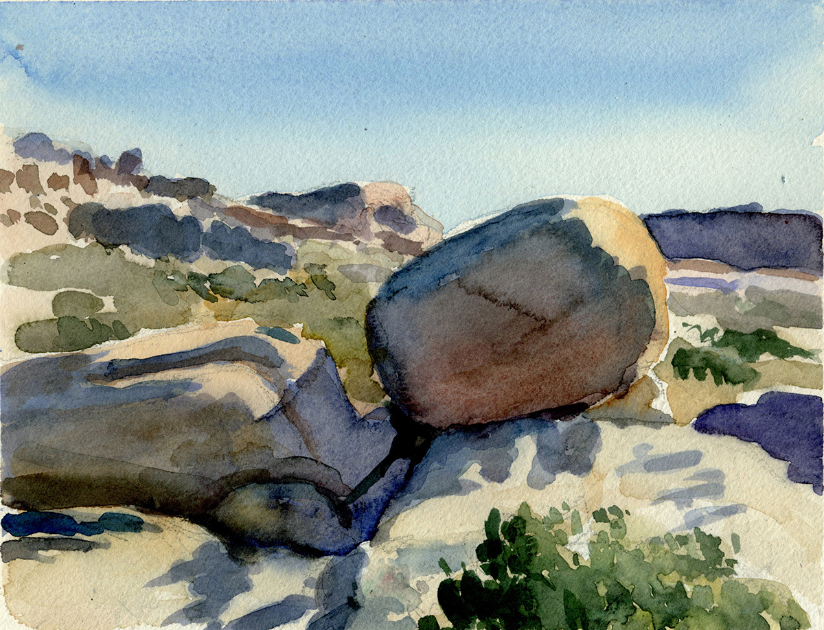 "JOSHUA TREE watercolor 8 x 10"" 2007"