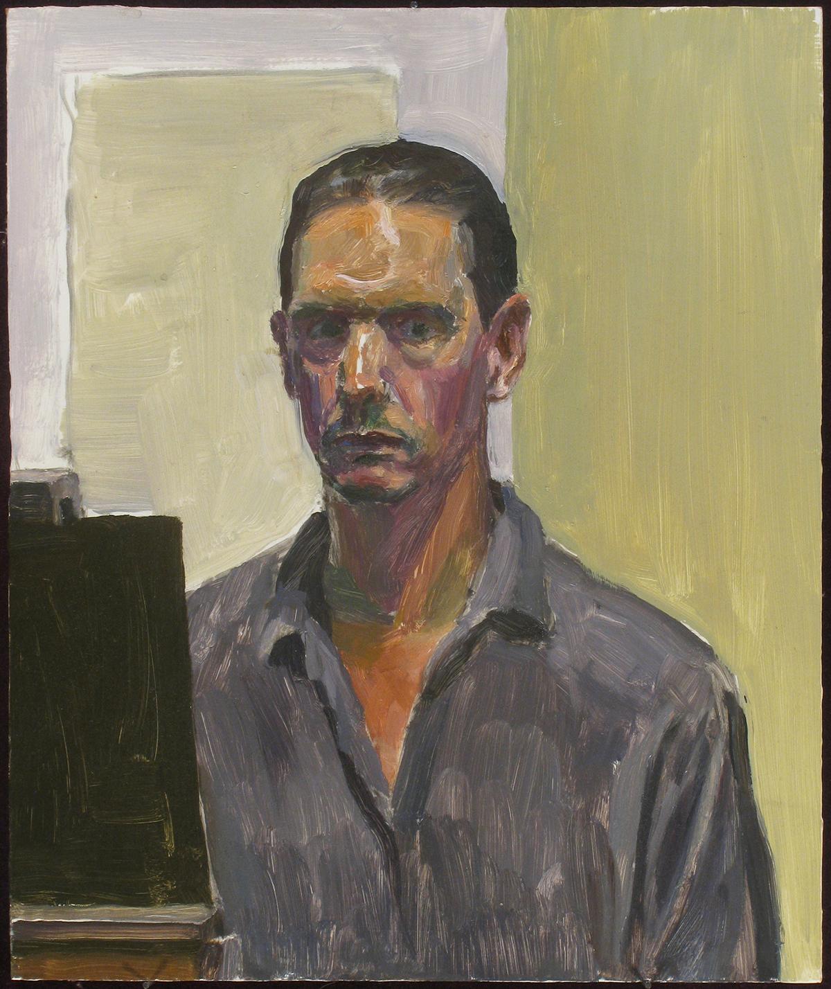 """WET HAIR oil on panel 12 x 10"""" 2011"""