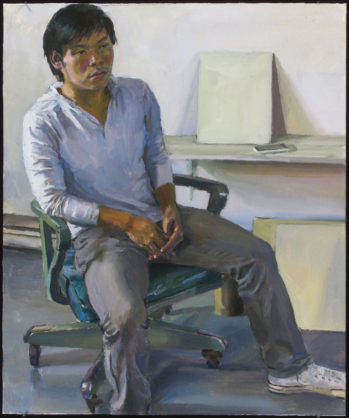 "THOMAS LAM oil on panel 14 x 12"" 2012"