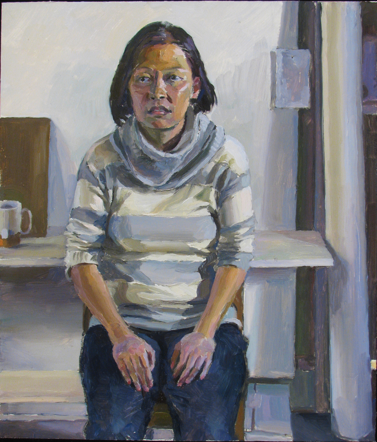 "ALINA TSUI oil on panel 14 x 12"" 2012"