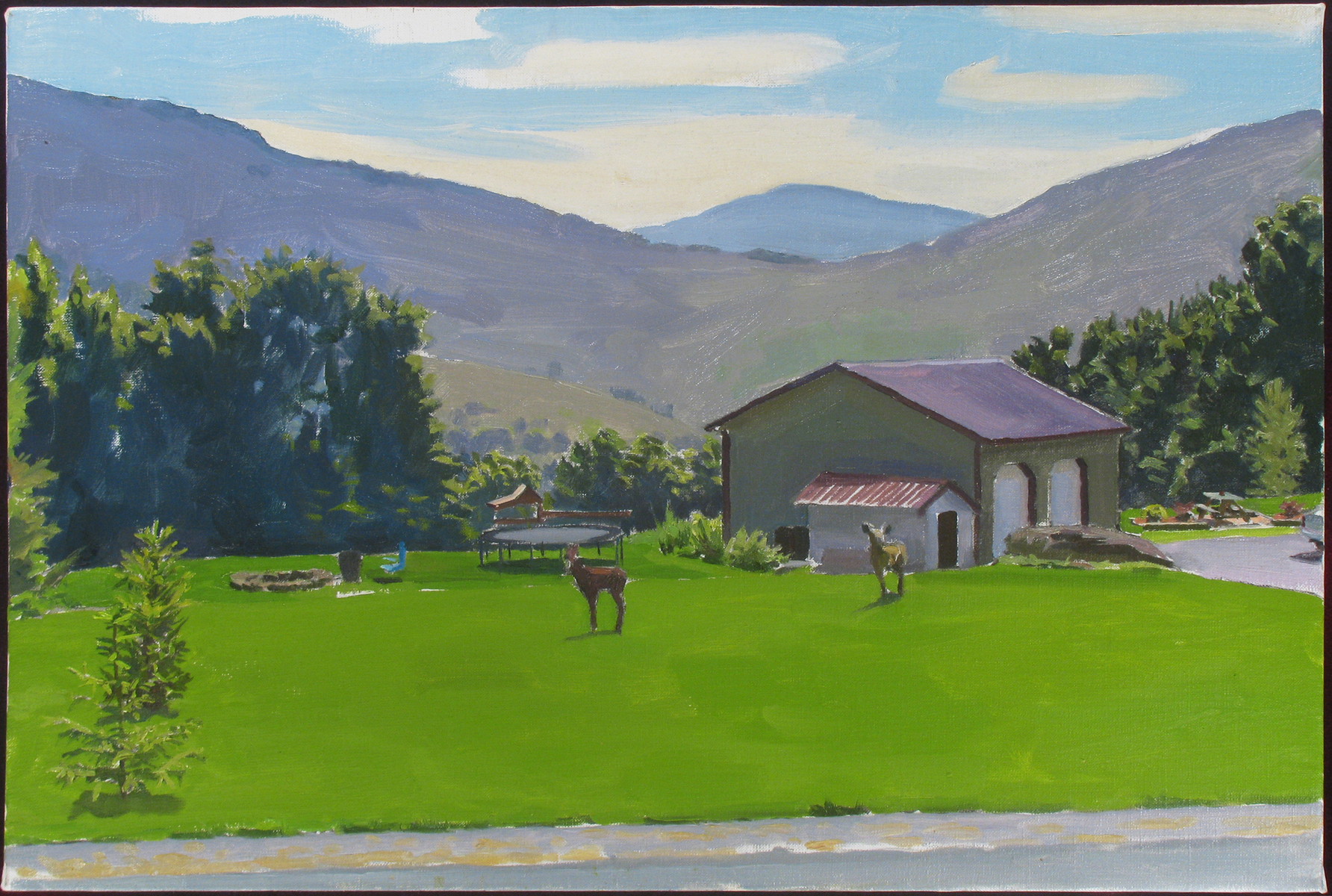 "LAWN oil on linen 18 x 24"" 2012 (sold)"