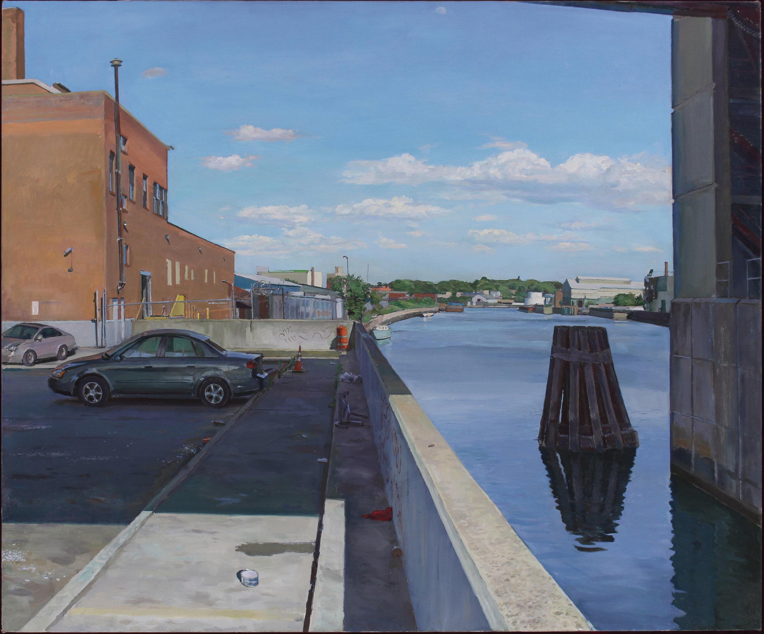 "UNDER BRIDGE oil on canvas 40 x 48"" 2018"