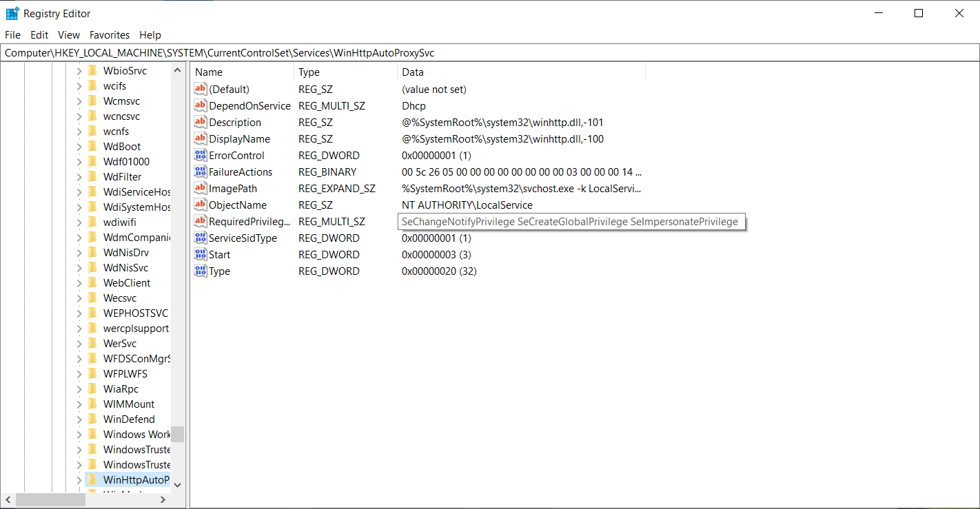 Figure 16. Deleting Registry settings is always fun, as you get to see a scary warning box.