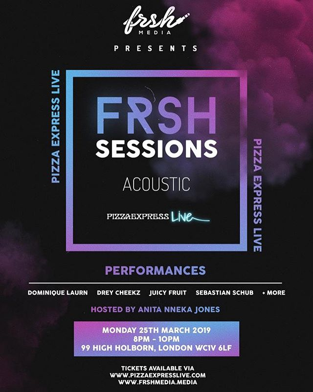 🎸1 Month To Go! Until we bring you an amazing lineup of talented acts gracing the stage @pizzaexpresslive  Acts: @dreycheekz @juicyfruitlondon @dominiquelaurn @sebastian.schub  Hosts: @anitannekajones & @mlavontelle 👆🏾Ticket link in bio!  #frshsessionsacoustic #frshsessions #Talent #uk #livegigs #thingstodoinlondon #acoustic #acousticcovers #livemusic #london #pizzaexpresslive #pizzaexpress #picoftheday #kepa #instagood #insta #rnb