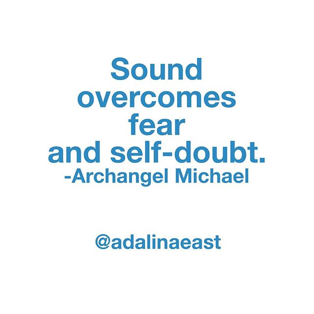 """Sound is one of the strongest tools to overcome fear and self-doubt. Sound advances you on your spiritual path by lifetimes with each use. Sound allows you to overcome all barriers to success. To love. To self-love, especially. When you have found your unique sound code, use it often to overcome. This is the method of overcoming.""-Archangel Michael  When was the last time you felt a sound move through you? Honestly move through your whole body and soul and change your outlook? Comment below!  #sound #soundcodes #amazingsound #overcomefear #success #spiritualpath #nyc"