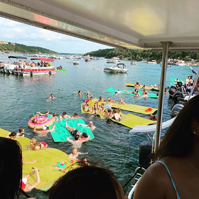 Saturday on Lake Travis. 200+ boats at the cove, and the best party in Austin!